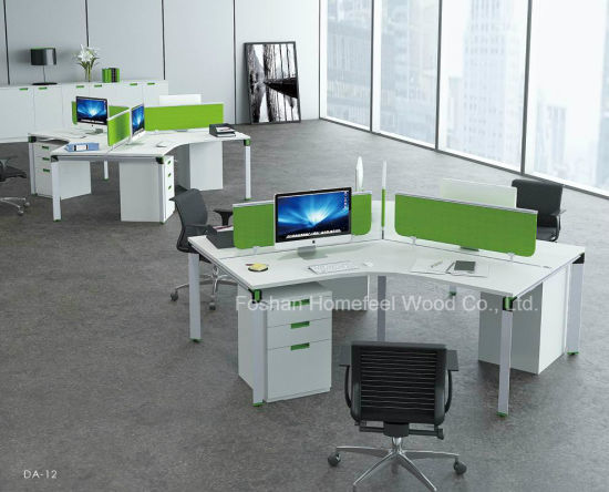 Contemporary Small Modular Office Cubicle 120 Degree Workstation Furniture Hf Yzda012