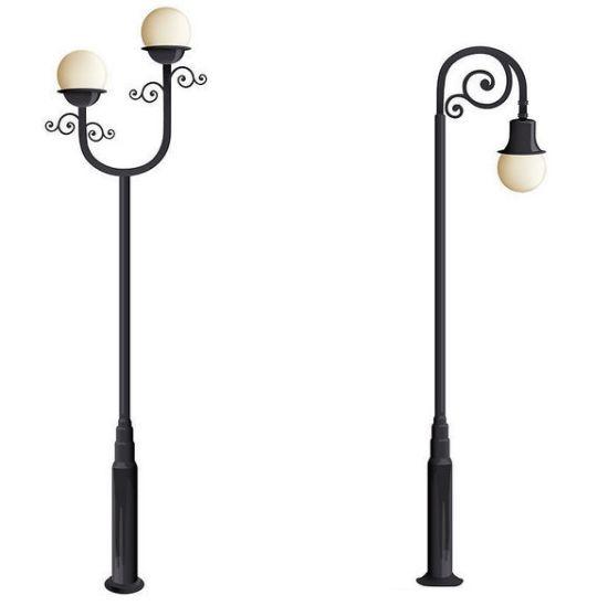 China Aluminium Decorative Street Lighting Pole Used