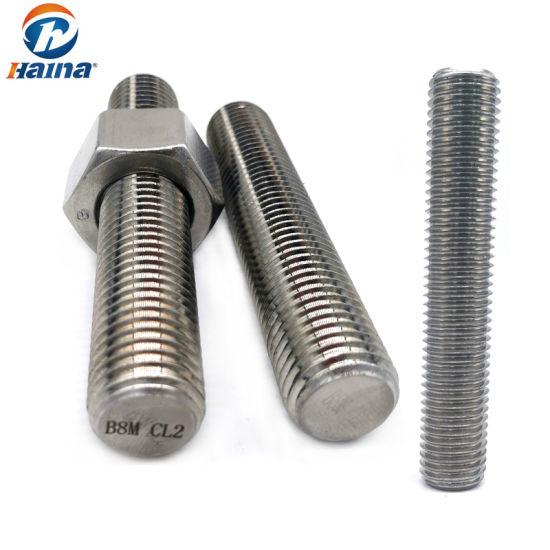 OEM Fasteners Stainless Steel Threaded Rod Internal Stud Thread Bolt