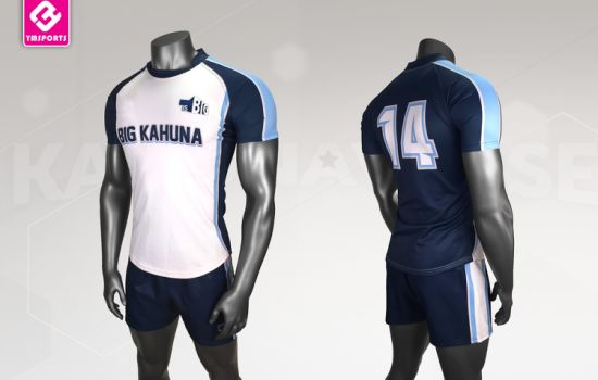 Men Clothing Sportswear Polyester Breathable Rugby Wear