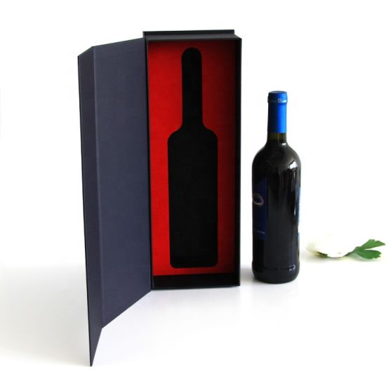 Luxury Single Glass Wine Accessories Gift Set Packaging Cardboard Gift Box with Foam Insert pictures & photos