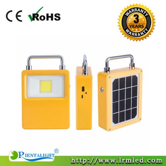 30W 50W Portable Solar LED Rechargeable Camping Temporary Work Outdoor Flood Light pictures & photos