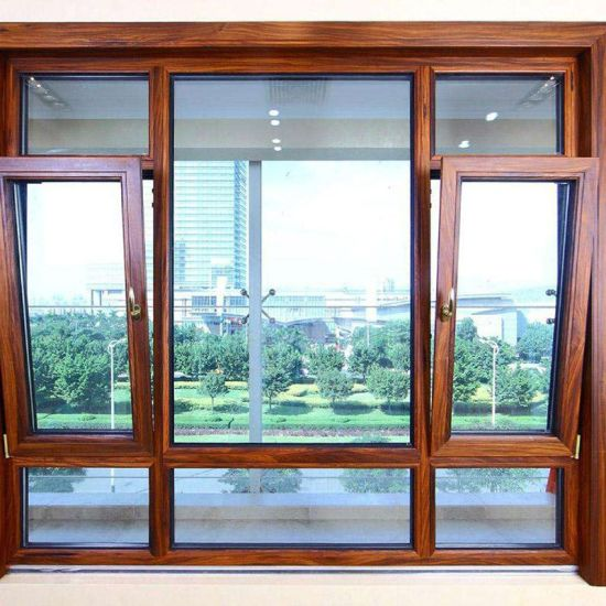 Single/Double Tempered Glass Aluminum Hung Window