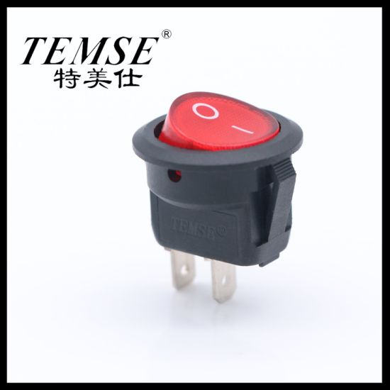 Temse Round Lamp Mini 2pin Boat Rocker Switch