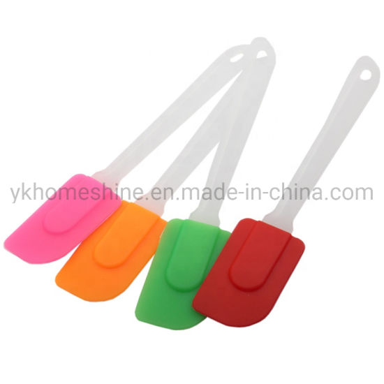 Wholesale BBQ Baking Tools Silicone Pizza Cake Spatula with Plastic Handle