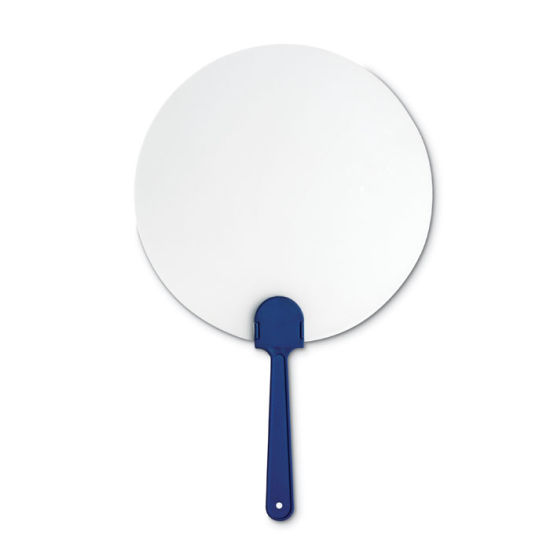 Manual Hand Fan with Semi-Rigid Frosted Transparent Surface