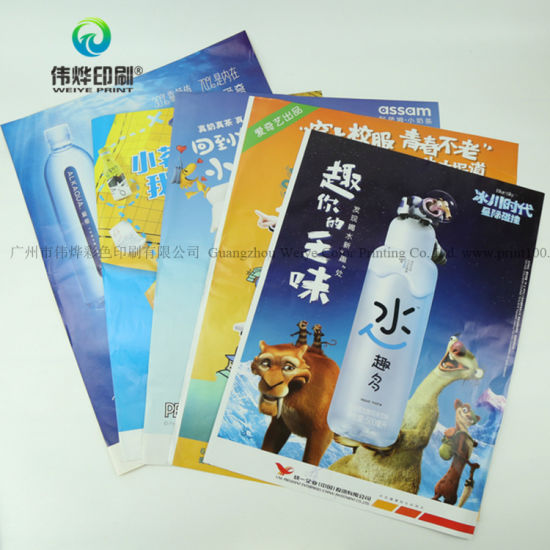 chinese manufacture custom printed company brochure accordion paper
