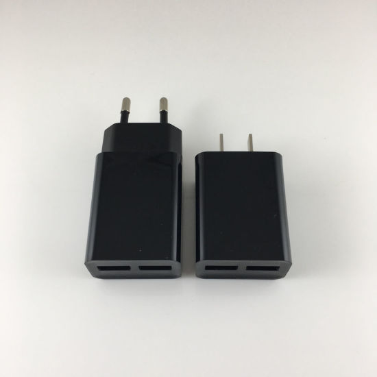 2 Port Smart USB Charger 2.1A Us/UK/EU Mobile Phone Charger