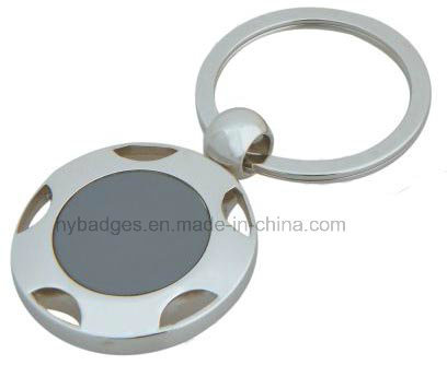 Oval Shape Zinc Alloy Keychain Key Ring (GZHY-KA-019) pictures & photos
