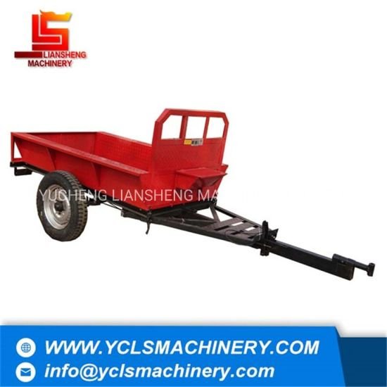 Farm Double Wheels Tipping Trailer for Walking Tractor/Hand Tractor and Tiller
