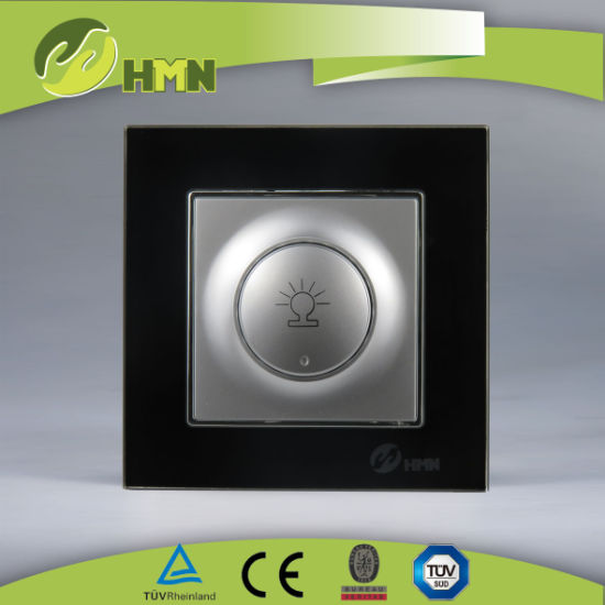 TUV CE CB European standard certified toughened glass BLACK llight dimmer switch