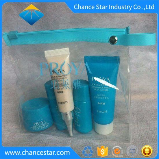 Custom Logo Printing Clear PVC Cosmetics Ziplock Bag