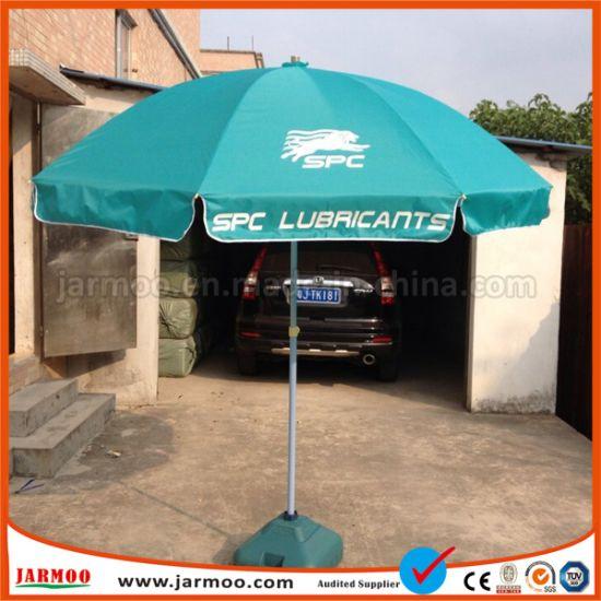 Custom Printed Outdoor Sun Garden Square Umbrella For Restaurant