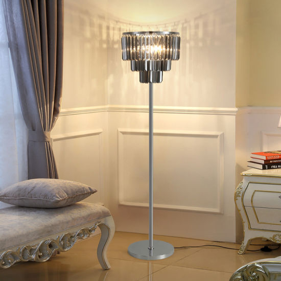 China Modern Luxury Indoor Decorative Crystal Floor Lamps China