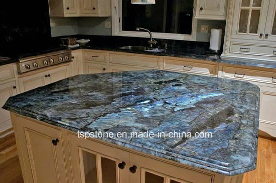 Prefab Black/Grey/White/Blue Granite/Quartz/Marble Kitchen Countertop/Stone Tops for Hotel Projects