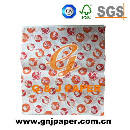 Hot Sale Custom Brand Grease Resistant Hamburger Foil Wrapping Paper pictures & photos