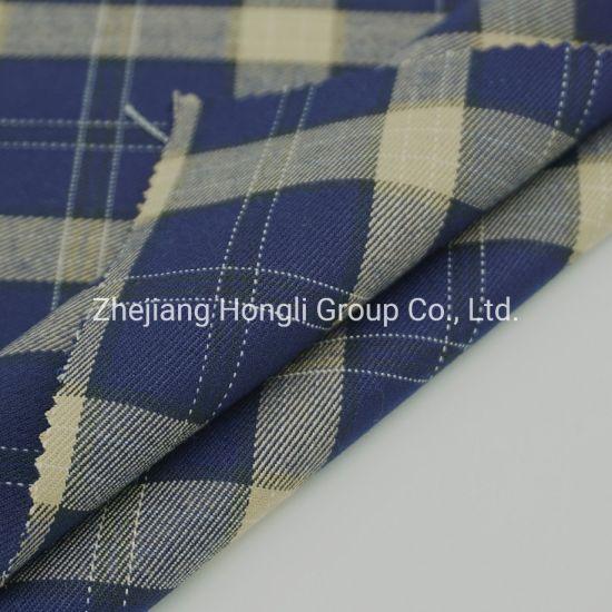 Fabric, Tr, 80% Polyester 18% Rayon 2% Spandex Check Stripe Tr Fabric