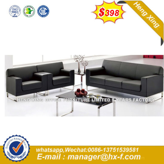 with Table Living Room Genuine Leather Sofa (HX-CS073) pictures & photos