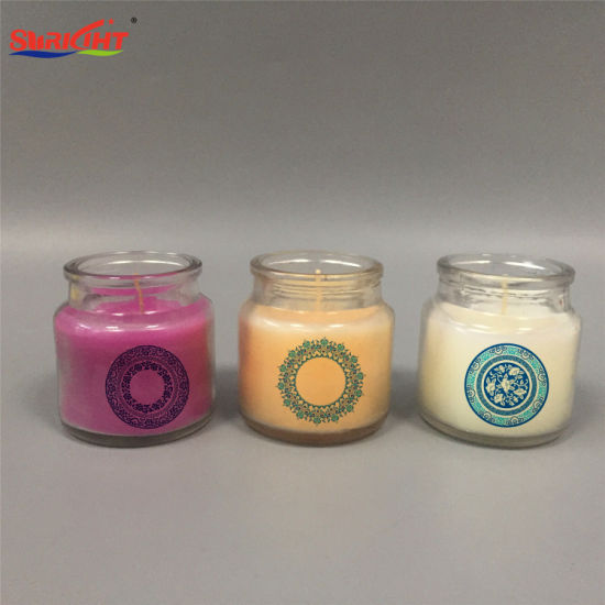 Small Pudding Glass Bottle Candle with Personalized Design Logo
