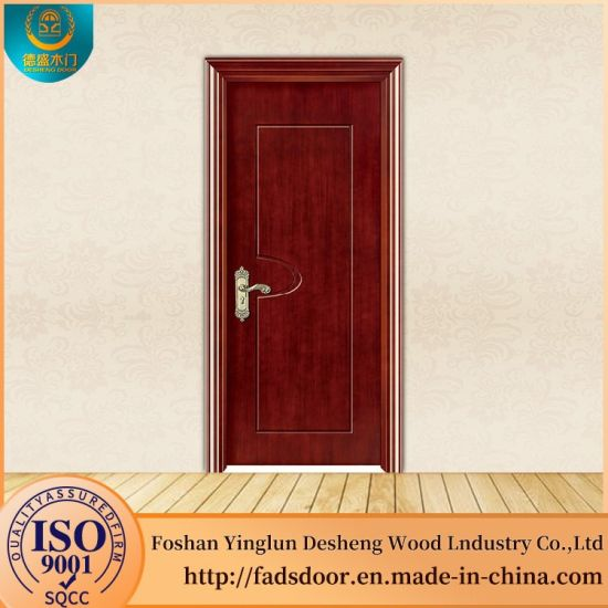 China Desheng Modern Wooden Front Doors Solid Wood China Wooden