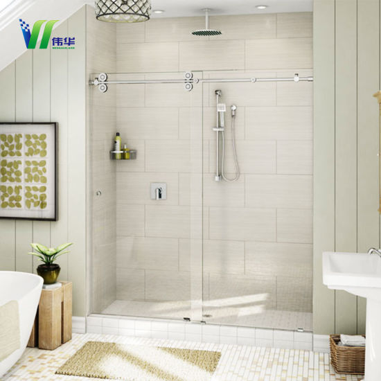 China Frosted Toughened Shower Room And Bathroom Partition Glass Custom Bathroom Partition Wall Interior