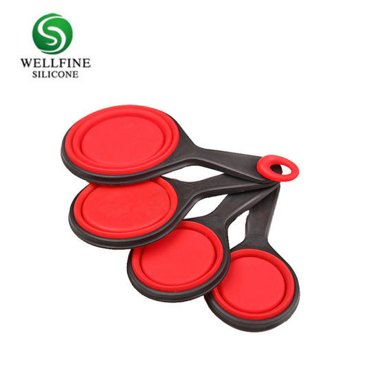 4pcs Silicone Collapsible Measuring Cups And Spoons Set