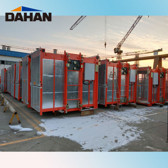 Sc200/200 0-63m/Min Middle Speed Construction Lift with Good Price