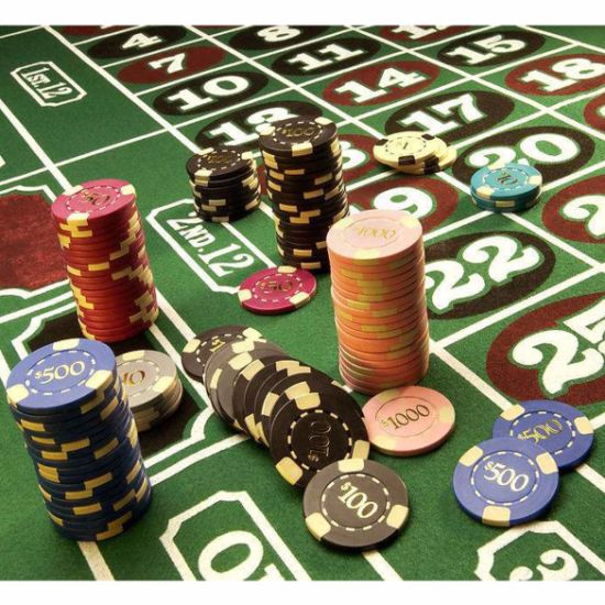 PVC Printed Gambling Jetton Clay Poker Chips Chip pictures & photos