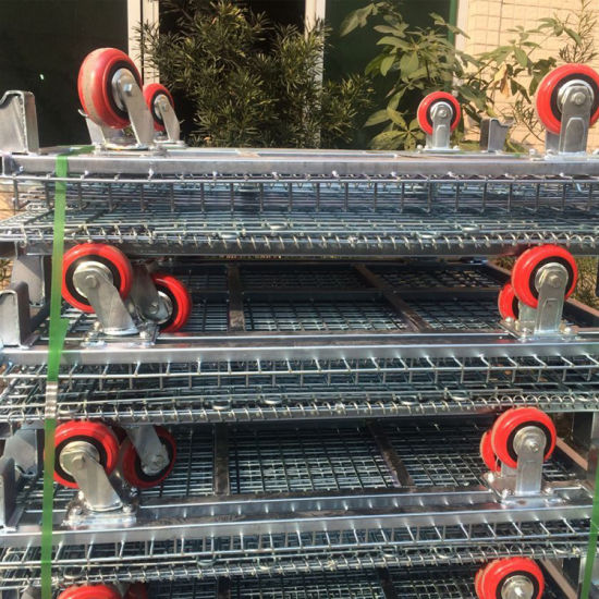 Stackable Steel Wire Mesh Storage Cage for Industrial Warehouse