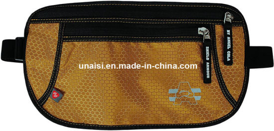 Anti-Theft Hidden Travelling Sports RFID Money Belt Waist Travel Bag pictures & photos