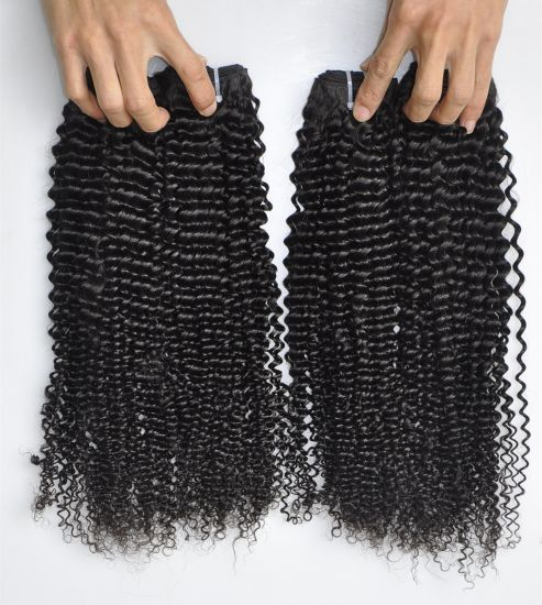 Kinky Curl 100% Brazilian Virgin Remy Human Hair Extension Lbh 177 pictures & photos
