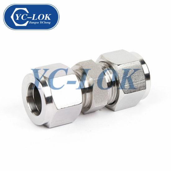Metric 316 304 Stainless Steel Straight Male Ferrule Tube Fittings