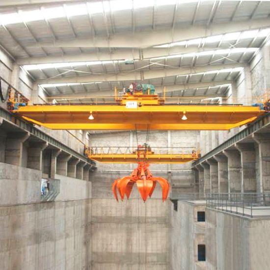 Electric Double Girder Overhead Traveling Hook Grab Bucket Eot 16 Tons 20 Ton Crane