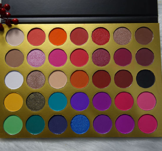 Hot Sell 35 Color Eyeshadow Palette Private Label Makeup with Mirror Palette
