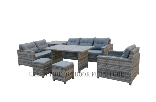 Remarkable Hot Item Patio Rattan Wicker Leisure Outdoor Home Furniture Aluminum Dining Sofa Set With Storage Box Bralicious Painted Fabric Chair Ideas Braliciousco