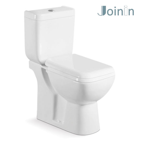 Sanitary Ware Bathroom Ceramic Two Piece Wc Square Toilet with P-Trap (JY2103)