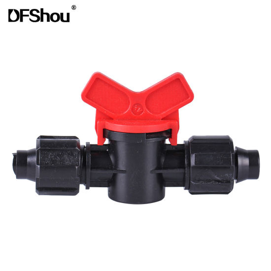 Lock Through Tube Valve Pipe Fittings for Green House Irrigation