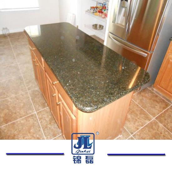 Green, Yellow, Gold Ubatuba Granite Kitchentops/Countertops For Bathroom Or  Vanity Tops