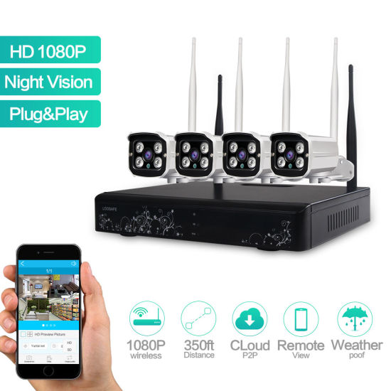 4CH 960p1080p HD Wireless Camera System for Home/Office/Shop Security pictures & photos