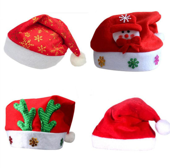 China Christmas Decoration Led Flashing Santa Claus Hat For Kids And