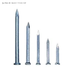 Cheap Galvanized Hardened Steel Concrete Steel Nail Sizes