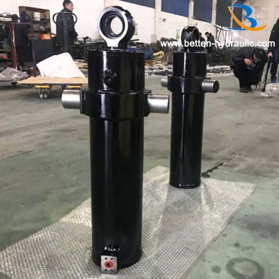Garbage 4 Stage Telescopic Truck Hydraulic Cylinder