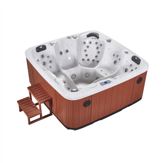 Balboa System Freestanding Acrylic Whirlpool Outdoor Jacuzzi for 5 Person pictures & photos