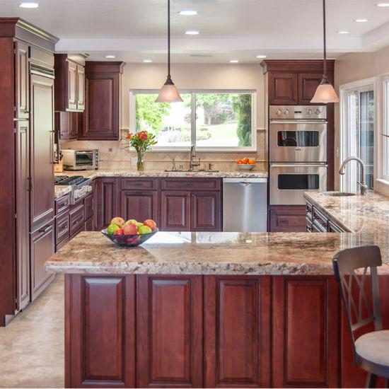 Affordable Modern Semi Custom Solid Wood Kitchen Cabinets