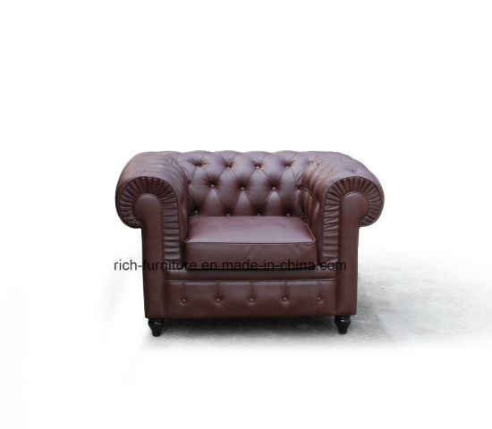 Modern Style Chesterfield Sofa With Arms