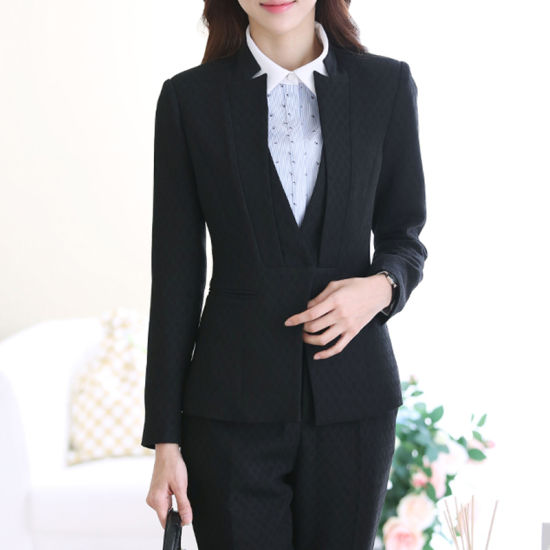 China Ladies Black Blazer and Skirt Set f4509160c5ef