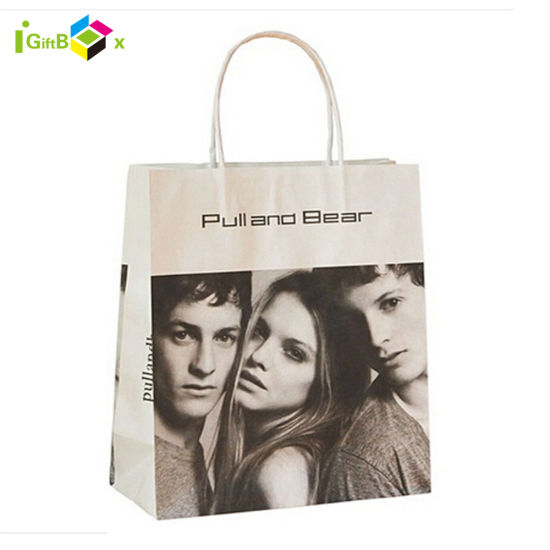 Fashion Printed Paper Shopping Bag with Handle for Packaging