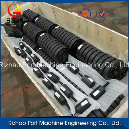 SPD Whole Rubber Coated Conveyor Impact Roller pictures & photos