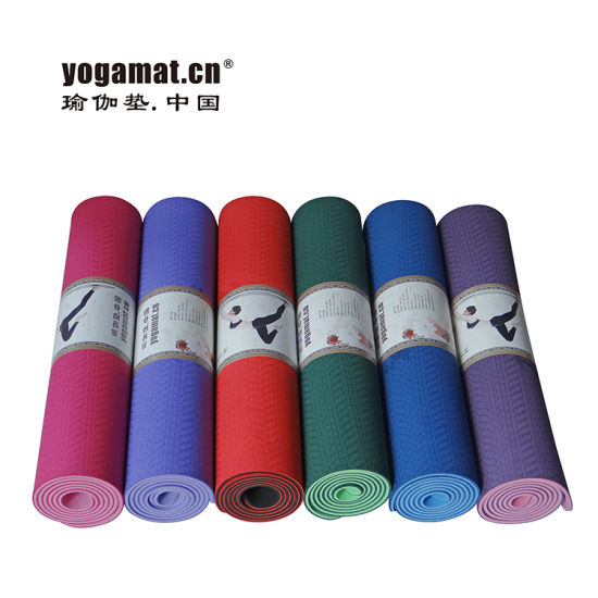 China Eco Dual Layers TPE Yoga Mat with SGS Certification - China ...