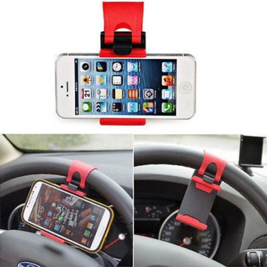 Universal Car Steering Wheel Clip Mount Holder for Mobile Phone GPS